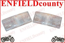 NEW FRONT INDICATOR CLEAR FROSTED LENS SET FOR VESPA PX PX80-200 PE LUSSO T5 LML