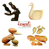 Wooden Home Decor Artifacts - Wood Carving Birds and Animals - Indian Woodcarving - Custom Wood Carving