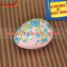 Floral Symmetry in Pink - Easter Egg Shaped Box - Customized Painting Patter and Various Sizes