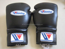 Winning Brand Leather Boxing Gloves Black Color
