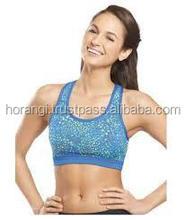 Custom Made Breathable Sports Bra/ Women Contrast Gym Bra/ Fitness Bra