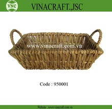 Water hyacinth basket with steel frame for fruit