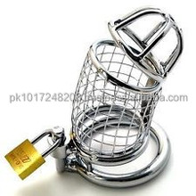 Men Stainless steel Smooth Chastity Belt Chasity Pengooglis Cage toy