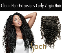 Wholesale Clip in Hair Extensions Curly Virgin Hair