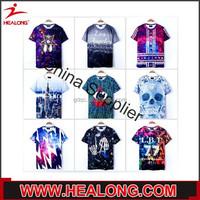 Healong Factory Light Weight 2014 New Fashion Unisex Tshirt Printing