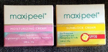2 Maxi Peel Moisturizing CREAM and SUNBLOCK spf 20 Exfoliant Cream