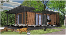 Eco-friendly prefabricated wooden frame house 34,5 s.m.