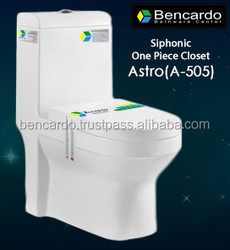 Siphonic One Piece closet - One Piece Toilet - Siphon Flushing - Sanitary ware - Toilet - A- 505