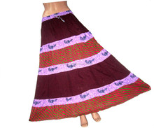 India Colorful Hill Tribe Short Skirt