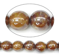 18mm brown Round Pearlized Porcelain Beads