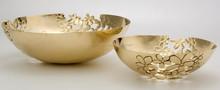 Copper Decorative serving bowl,Copper plated serving bowls, Flower cut dry fruit decorative bowl