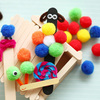 party decoration colorful acrylic pompom ,Assorted Color Metallic Tinsel Pompoms