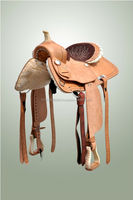 "Leather Western Billy Cock Saddle 12"" Racing Kids Child Youth Tack"