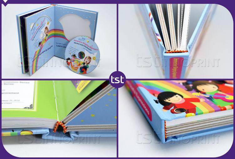 Impressão de Inovadoras Crianças Inglesas Livros com Capa Dura