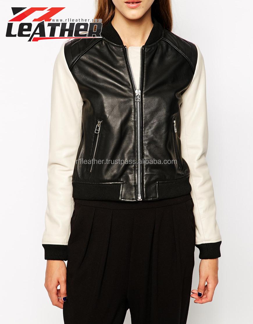 Hot style 2014 veste en cuir mode veste en cuir pour femmes en ...