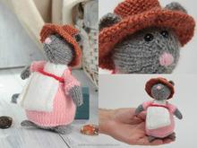 Handmade knitted soft toy for children