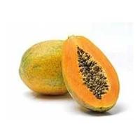 Fresh papaya unripe, ripe and papaya leaf