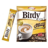 10 Sachets Birdy 3 IN 1 Coffee Super Creamy. Instant Coffee Mix From Thailand
