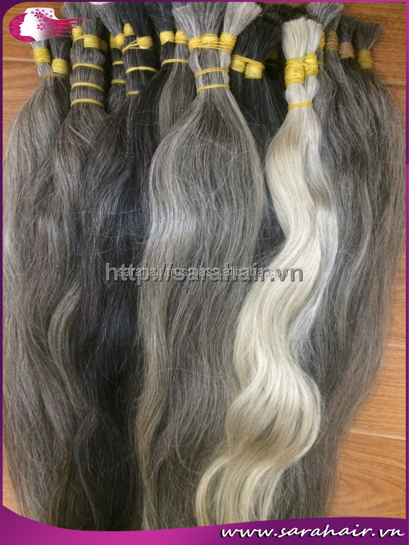 Beautiful Grey Hair Extensions From Mcsara Hair In Vietnam Buy