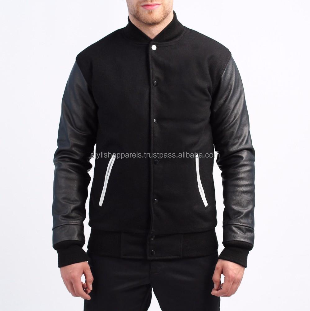 Plain Leather Jacket Mens Fit Leather Jacket Men