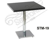 Modern rectangular wooden cafe table