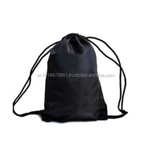 New Arrival Sports Drawstring Backpack Solid Color Polyester Gym Sack