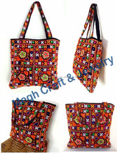 2015 LATEST HANDMADE FASHION INDIAN ETHNIC KUTCHHI EMBROIDERY WORK HANBAGS-WHOLESALE STYLISH COLLEGE DESIGNER TOTE BAGS