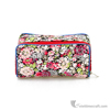 Vietnam cosmetic bag with zip, flower pattern makeup box case