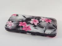 Black Floral Tweezers Lash Tool Holder Hard Case Beauty Eyelash Extension/Eyelash Extension Tweezers