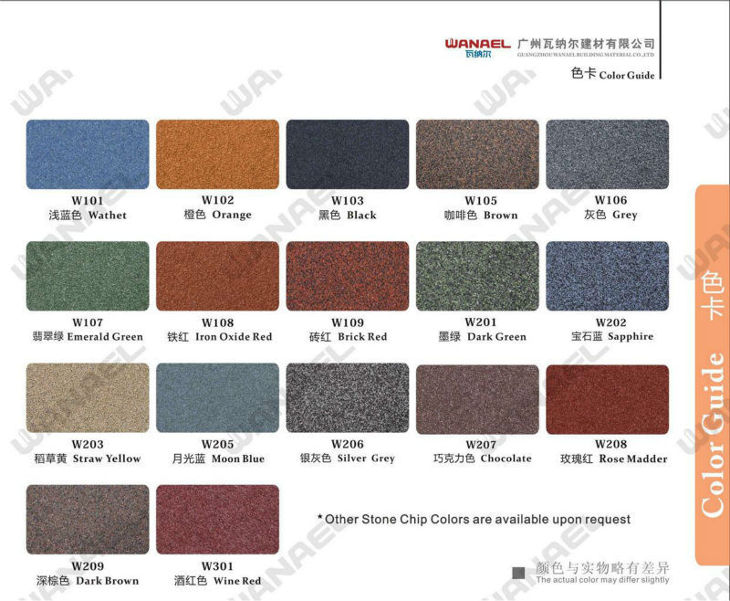 Shake Wanael Stone Coated Metal Roof Sheet/sheet Metal Roofing/color ...