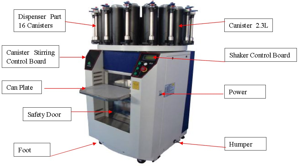 Color Tinting Paint Machine