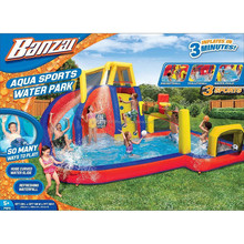 Banzai Aqua Sports Waterslide Inflatable Water Splash Slide Park