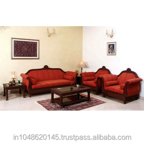 Hand Carved Teak Wood Sofa Set Buy Indian Carved Sofa