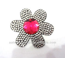 Fashion colourful bling rhinestone flower finger ring