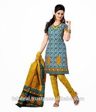 La última de las señoras indio vestido de material- mayoristas bandhani, crepe, de terciopelo, puro vestido de algodón