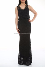 long maxi sleeveless lace wholesale dresses for women in Turkey