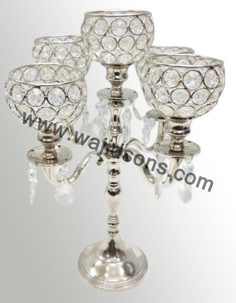 Crystal Wedding Centerpieces Candelabra as Events and Party Supplies for table or floor decor candelabra