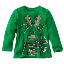 Boys sweater jacquard pattern sleeveless christmas sweater jumper for children