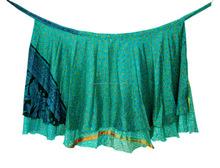 Faldas abrigo Magia wholesale Diseñador dos envolver alrededor de las faldas de seda capa - seda sari faldas abrigo