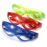 Brand New Wholesale Price Cruel Sparkle Spider-man LED Light Up Flass Flashing Glasses Mask For Club Party Gift