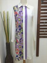 Plus size muslim clothing for ladies long sleeve maxi dress wholesale woman elegant