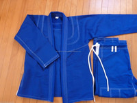 Pre-shrunk pearl weave, pro blue custom embroidery patches, pakistan bjj gi