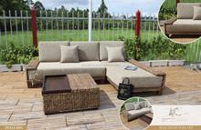 2015 Luxury sofa set water hyacinth Wicker Furniture