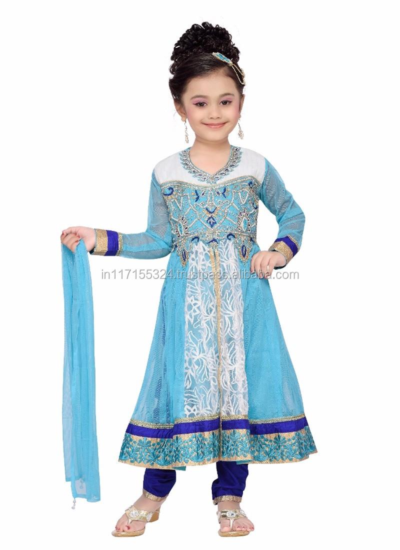 Latest Design Kids Girls Anarkali Suits - 2016 Cheap India Wholesale ...