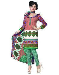 Variation Astonishing Brown Churidar Printed Dress Material