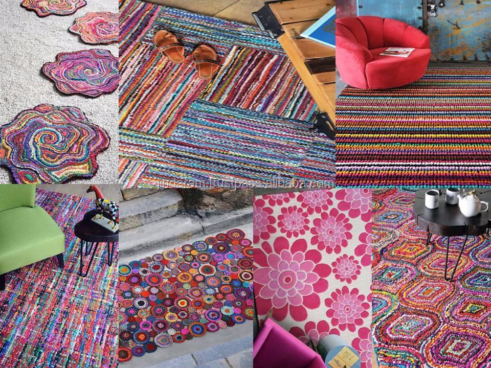 Rainbow colour stylish carpets.JPG