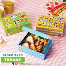 "Disposable Bento ""Animal Cupcake"", coated lunch box, sandwich package bag, torune bento"