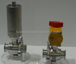 Industrial pneumatic valve such as butterfly valve and ball valve