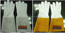 Tig Welding Gloves Made of Soft Goat Leather with Split Cuff Stitch with Kevlar Thread / Argon Gloves / Leather Welding Gloves