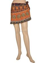 2015 summer mini skirt with flower printing for city girl